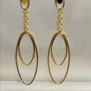 Jewelry - 14K Gold Dangle Earrings Filagree